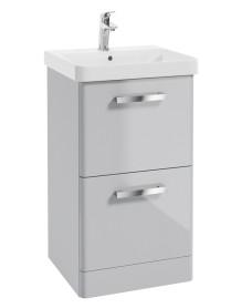 Odeon Cool Grey 500mm 2 Drawer Vanity Unit & Basin