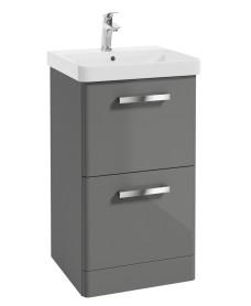 Odeon Steel Grey 500mm 2 Drawer Vanity Unit & Basin