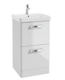 Odeon Gloss White 500mm 2 Drawer Vanity Unit & Basin