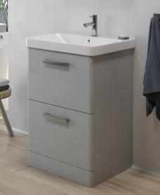 Odeon Cool Grey 600mm 2 Drawer Vanity Unit & Basin