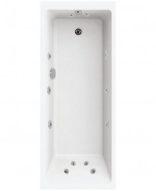 Oscar Single Ended 1700x700 12 Jet Whirlpool Bath