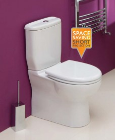 Sedef Close Coupled Toilet & Soft Close Seat - Short Projection 600mm-ECO Flush