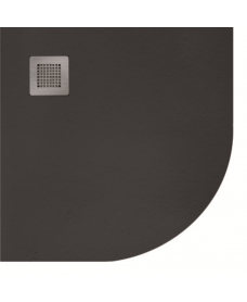 SLATE 900 quandrant  Shower Tray Black - with FREE shower waste
