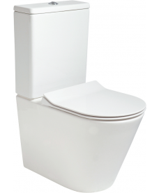 Reflections Fully Shrouded RIMLESS Toilet and Slim Soft Close Seat