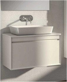 Reflex White 80 CounterTop Vanity Unit and Enya Basin