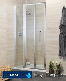 Revive 1100 Bifold Shower Door with Single Infill Panel - Adjustment 1040-1100mm
