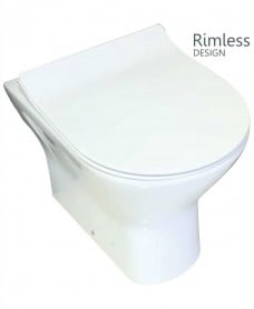 Resort Back To Wall Pan with SLIM soft close seat