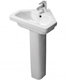 Resort 450 Corner Basin & Standard Height Pedestal