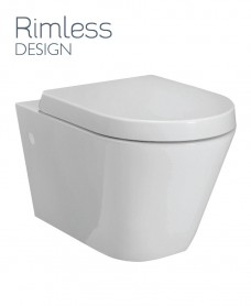 Resort Wall Hung Rimless Toilet