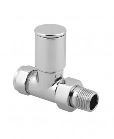 Straight Radiator Valve Round Head (Set of 2)