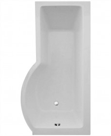 P Shape 1700 x 900 Right Hand Shower Bath with Bath Panel & Bath Screen