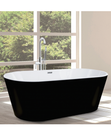 Signature Matt Black Freestanding Bath L1700 x W805