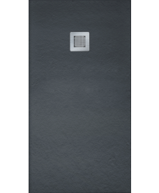 SLATE 1000 x 900 Shower Tray Black - with FREE shower waste