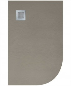 Slate 1000x800 Offset Quadrant Shower Tray LH Taupe - Anti Slip