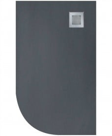 Slate 1200x900 Offset Quadrant Shower Tray RH Anthracite - Anti Slip