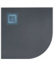 SLATE 900 quandrant  Shower Tray Anthracite - with FREE shower waste