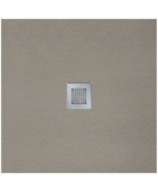 SLATE 900 x 900 Shower Tray Taupe - with FREE shower waste