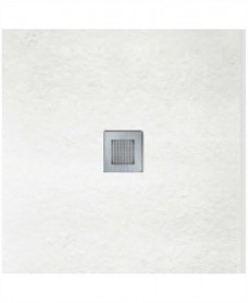 SLATE 800 x 800 Shower Tray White - with FREE shower waste