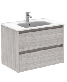 Smart Sandy Grey 80cm Vanity Unit 2 Drawer and Slim Basin