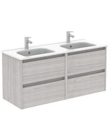 Smart Sandy Grey 120cm Vanity Unit 4 Drawer and Slim Basin