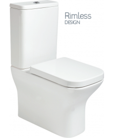 Sophia Fully Shrouded RIMLESS Toilet and Soft Close Seat