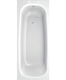 Strata Single Ended 1600 x 700 Steel Bath - Bath Only