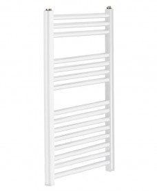 Sonas 800 x 600 Straight Towel Rail - White