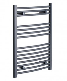Sonas 800 x 500 Curved Towel Rail - Anthracite