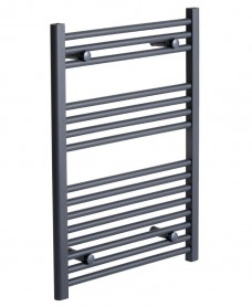 Sonas 800 x 600 Straight Towel Rail - Anthracite