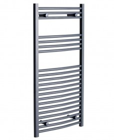 Sonas 1200 x 500 Curved Towel Rail - Anthracite