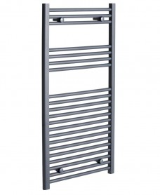Sonas 1200 x 600 Straight Towel Rail - Anthracite