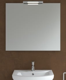 600mm x 700mm Mirror & Andrea Chrome Light