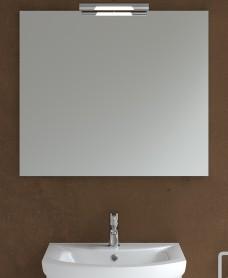 800mm x 700mm Mirror & Andrea Chrome Light
