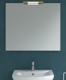 800mm x 700mm Mirror & Andrea Brass Light