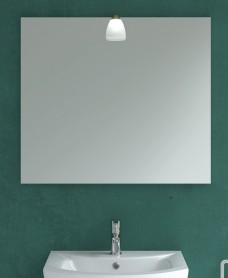 600mm x 700mm Mirror & Candela Bronze Light