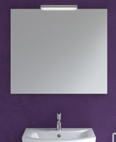 800mm x 700mm Mirror & Veronica Chrome Light
