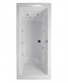 Pacific Double Ended 1900x900mm 12 Jet Bath