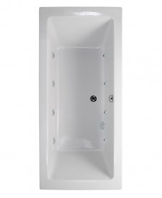 Pacific Double Ended 1700x750mm 8 Jet Bath