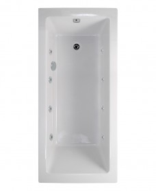 Pacific Single Ended 1600x700mm 8 Jet Bath