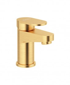 Norfolk Eco Flow Cloakroom Basin Mixer Brushed Gold