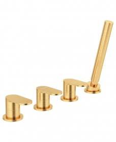 Norfolk 4 Hole Bath Shower Mixer Brushed Gold