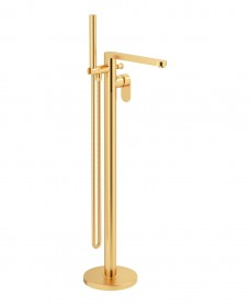Norfolk Freestanding Bath Shower Mixer Brushed Gold