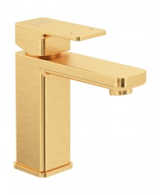 Contour Eco Flow Basin Mixer Brushed Gold