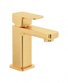Contour Cloakroom Basin Mixer Brushed Gold