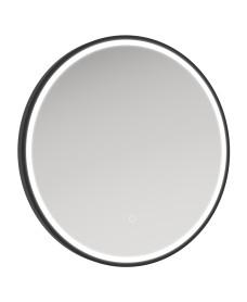 Astrid Beam Illuminated Metal Frame Round 600x600mm Mirror