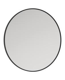 Astrid Black Non-illuminated Metal Frame Round 600x600mm Mirror