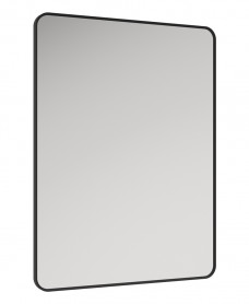 Astrid Black Non-illuminated Metal Frame Rectangle 600x800mm Mirror