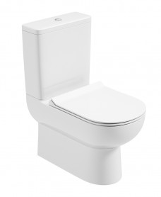Viva Comfort Height Fully Shrouded WC - Slim Soft Close Seat