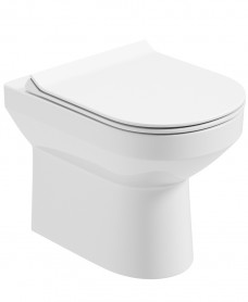 Vienna Back To Wall Rimless WC - Slim Soft Close Seat