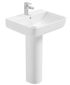 Verona Square 55cm Basin & Full Pedestal
